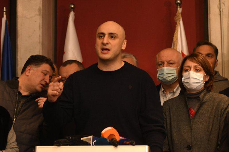 圖為喬治亞主要在野黨「聯合國家運動黨」主席麥利亞。 歐新社