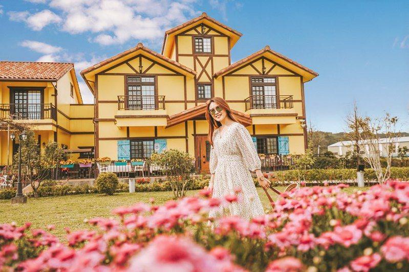 ▲全台黃色系景點推薦-黃色小屋咖啡莊園。 (圖/duffy_lifediary, Instagram)