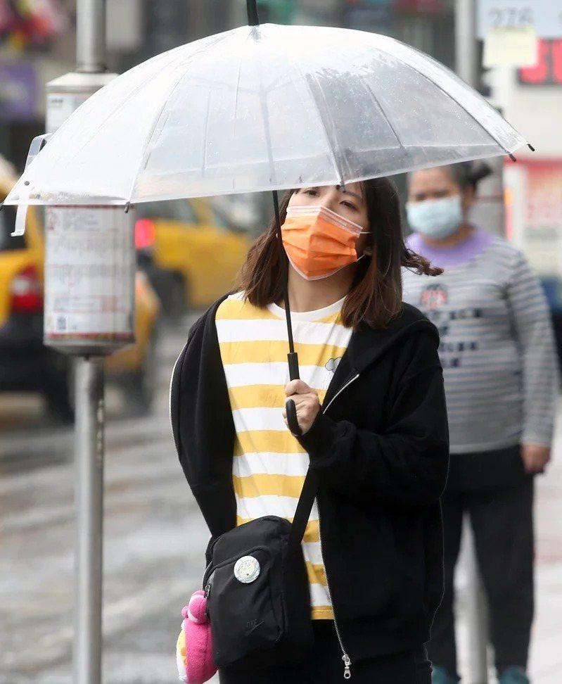 今天東北季風增強,北部、東半部轉為有雨。聯合報系資料照