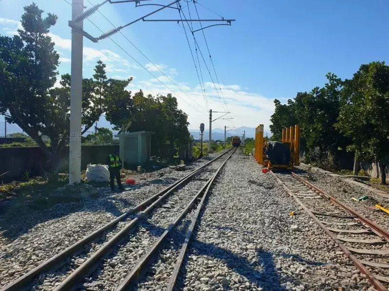 台鐵海端站發生重大工安事故。圖/台鐵局提供