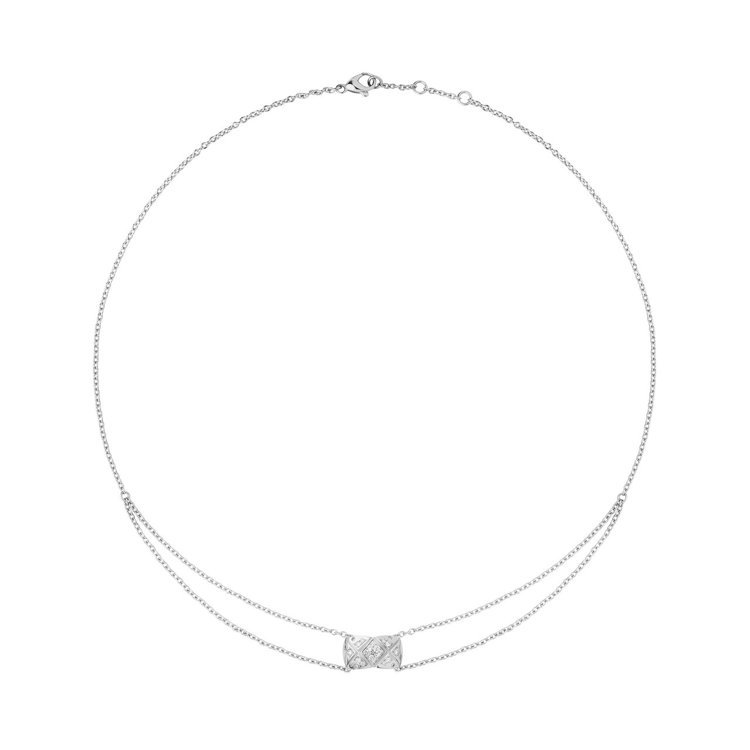COCO CRUSH 18K白金鑲鑽項鍊,16萬7,000元。圖/香奈兒提供