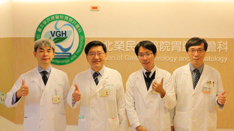 北榮教授黃怡翔所領導的肝癌團隊,為目前國內最多肝癌病患接受免疫治療的團隊,由左至...