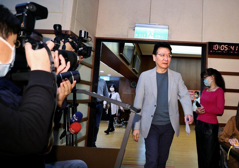 趙少康上午舉行記者會向蔡政府提施政建議。記者曾原信/攝影