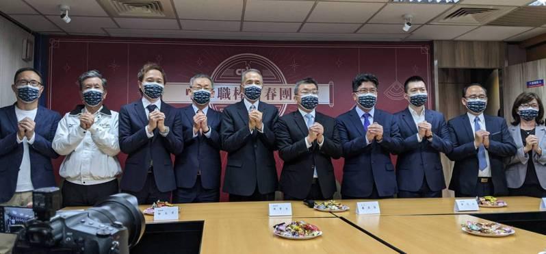 中華職棒聯盟今天舉辦新春團拜。記者蘇志畬/攝影