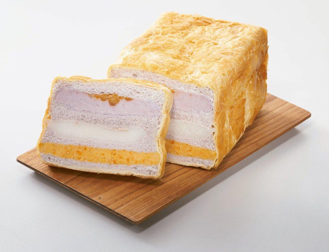 7-ELEVEN生活美食誌預購即日起至4月4日推出「法蘭四季芋泥流沙起酥三明治」...