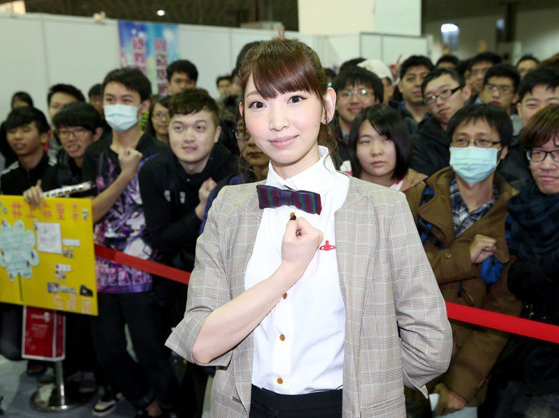 「進擊的巨人」聲優井上麻里奈曾來台灣出席簽名見面會。圖/聯合報系資料照