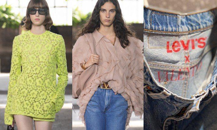 Valentino春夏系列把浪漫風格變得更實際。圖/Valentino提供、記者吳曉涵攝影