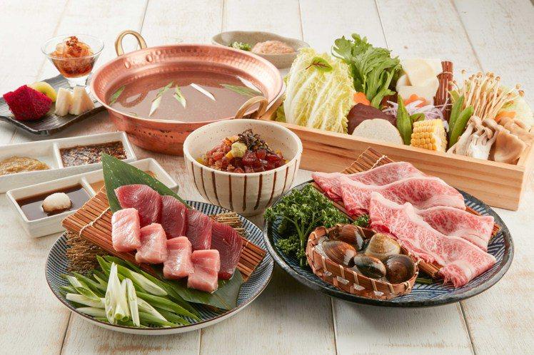 蔥鮪魚 日本和牛涮涮鍋,每套1,680元。圖/乾杯提供