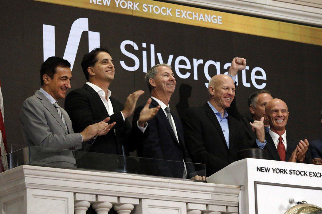 比特幣價格飆升嘉惠了專門承做比特幣存放款業務的銀門資本(Silvergate C...