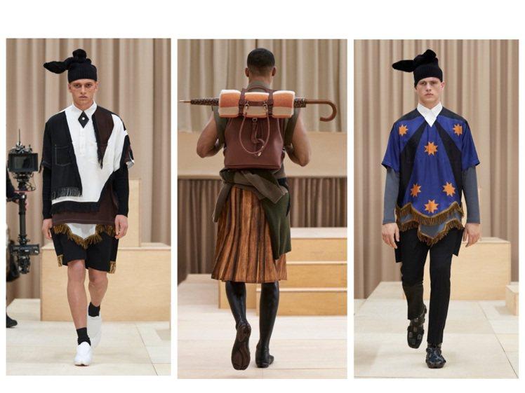 BURBERRY在倫敦攝政街旗艦店發表2021秋冬男裝。圖/BURBERRY提供