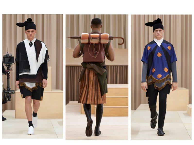 BURBERRY在倫敦攝政街旗鑑店發表2021秋冬男裝。圖/BURBERRY提供