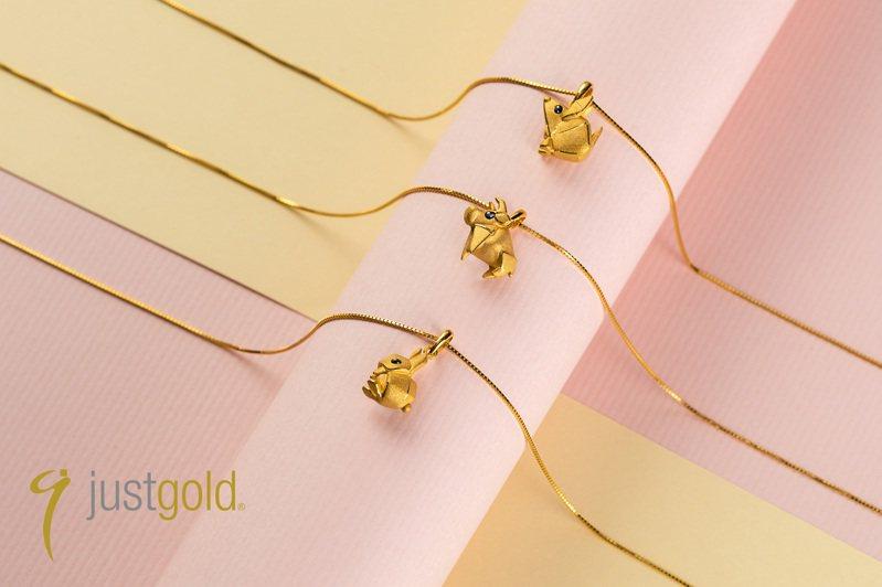 Just Gold鎮金店「祈願Cutie」生肖吊墜,13,800元起。圖/鎮金店提供