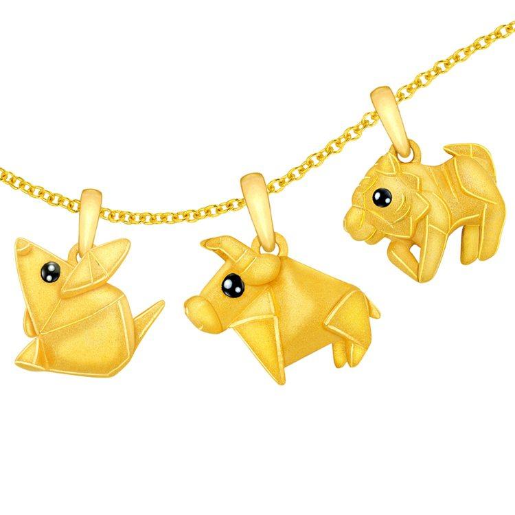 Just Gold鎮金店「祈願Cutie」生肖吊墜,13,800元起。圖/鎮金店...