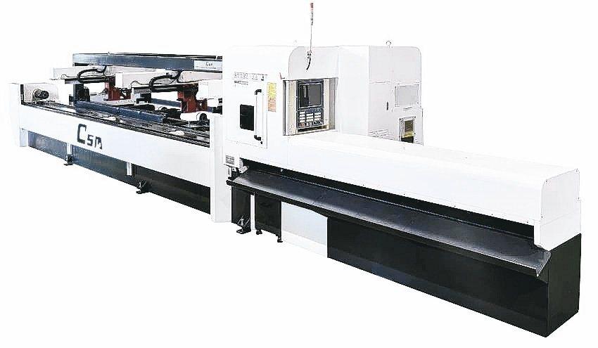 喬陞雷射管件切割機聞名全球。喬陞公司/提供