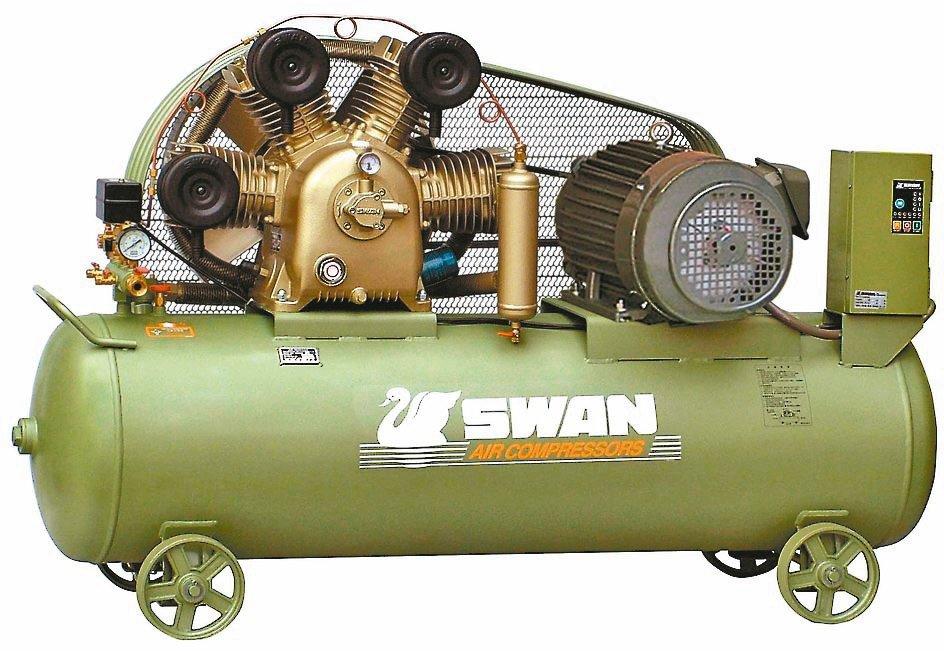 東正鐵工廠SWAN天鵝牌空氣壓縮機,高效節能首選。東正鐵工廠/提供