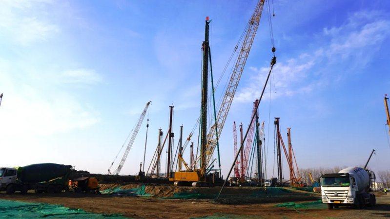 中芯京城一期工程項目建設現場。北京亦莊官網