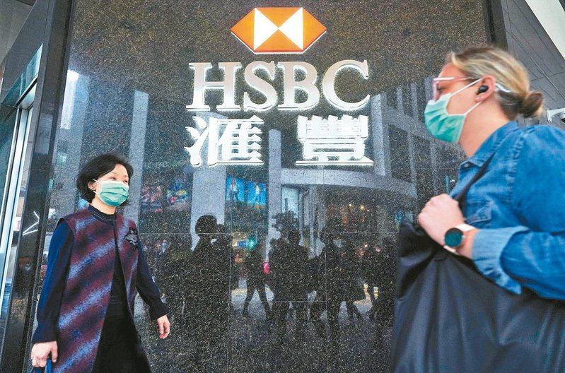 豐控股昨天公布財報,因新冠肺炎肆虐衝擊全球經濟,導致預期信貸損失飆升及利率下降,去年淨利潤大幅下降35%。 (中新社)