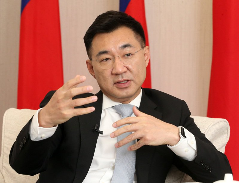 國民黨主席江啟臣昨接受本報專訪表示,國民黨身為最大在野黨,要有自信去做「在野的領頭羊」。記者胡經周/攝影