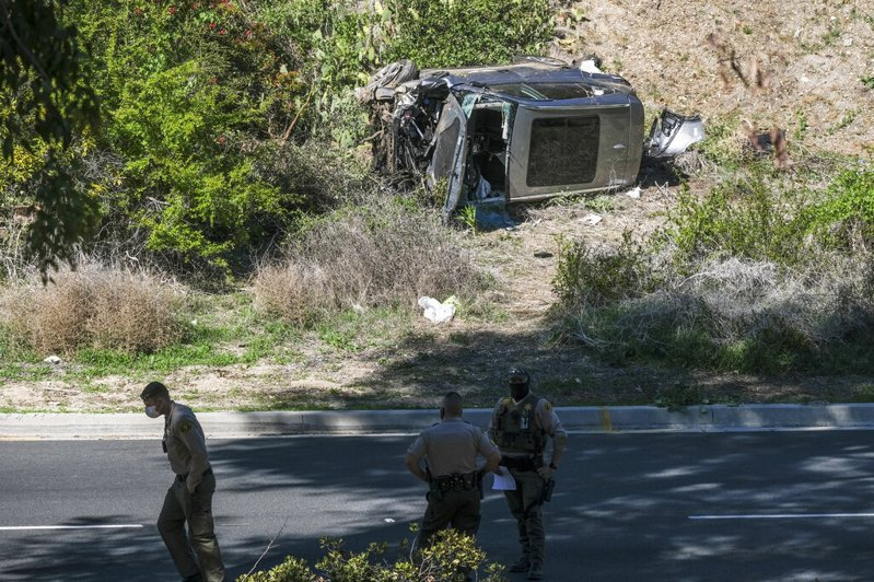 美國高爾夫球名將老虎伍茲(Tiger Woods)發生嚴重車禍。 美聯社