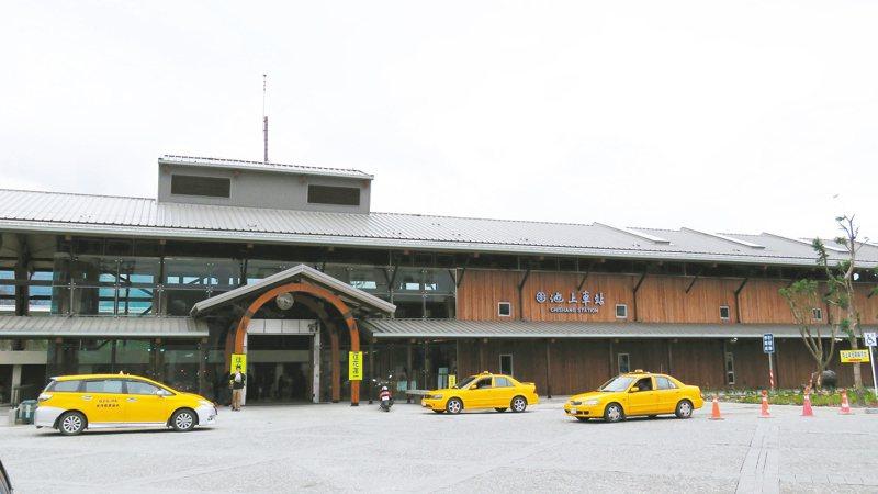 池上火車站以日式穀倉為設計基調,凸顯出在地米鄉的特色。聯合報系資料照/記者潘俊偉攝影