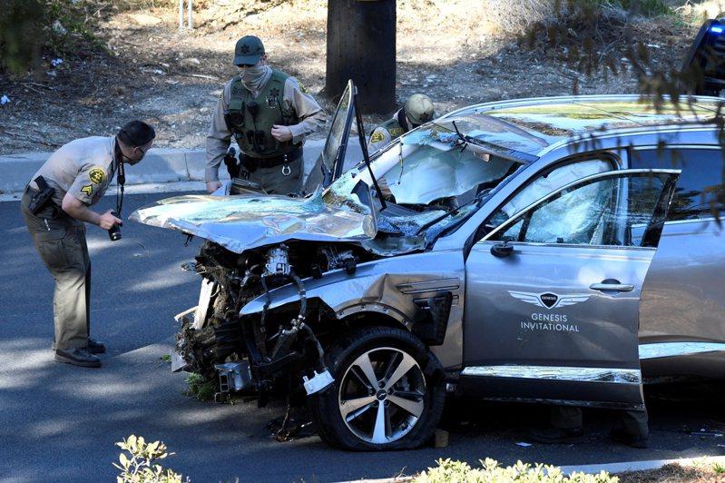 老虎伍茲發生重大車禍,他所駕駛的車是現代(Hyundai)旗下的豪華品牌Genesis GV80。 路透社