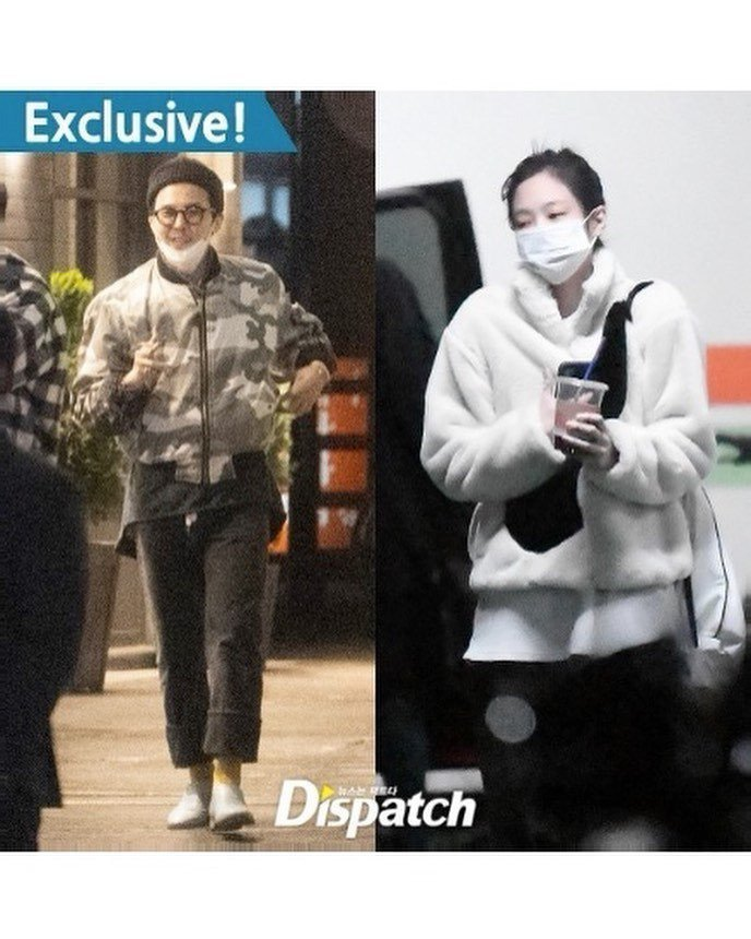 Dispatch報導,GD與Jennie已交往一年,常會到各自的家中約會。(取材...