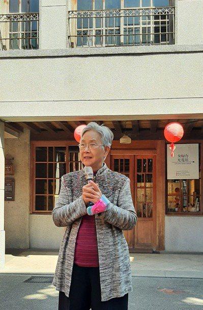 施夫人陳紫華提醒女性朋友千萬不要妄自菲薄。 圖/「女力.SC充電站」提供
