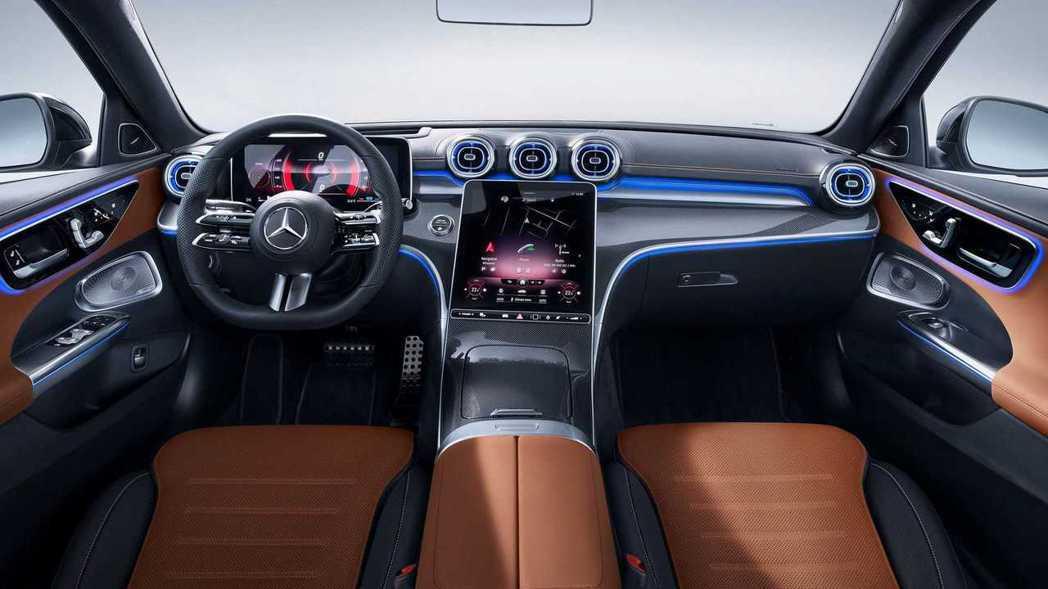 S-Class的內裝風格也下放到C-Class。 圖/Mercedes提供