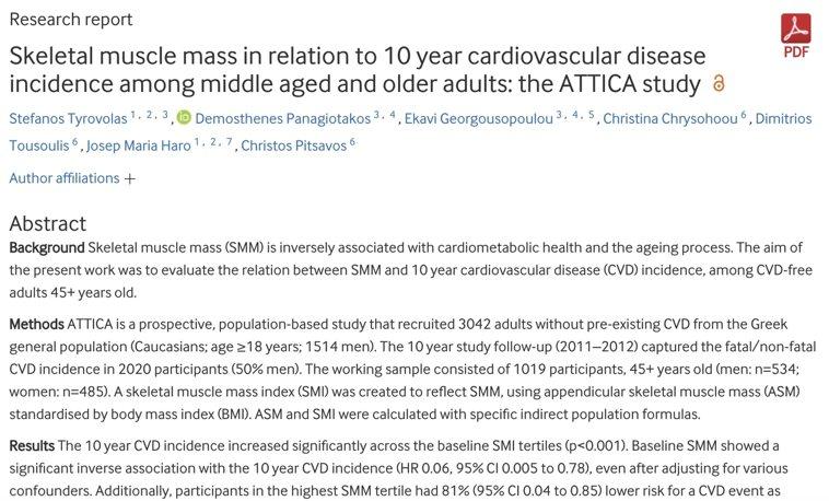 肌肉量少也會影響心臟?研究:心臟病風險多81%