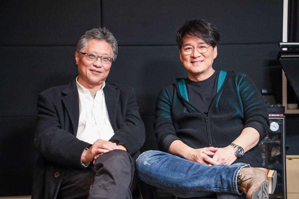 張大春與周華健合作寫出屬於老台北的歌。記者吳致碩/攝影