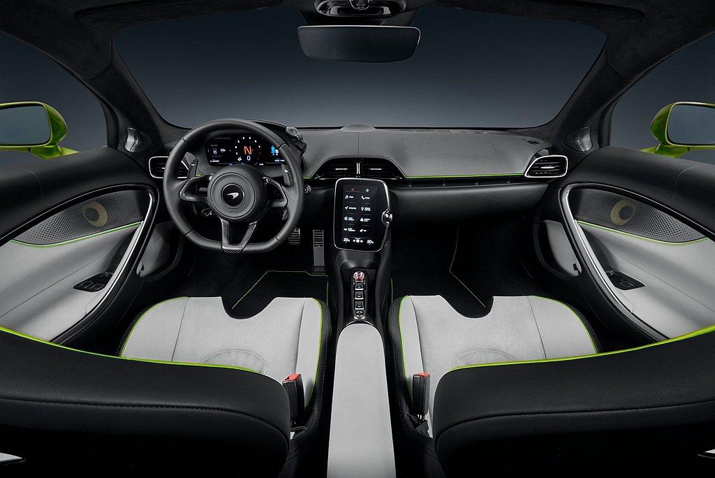 McLaren也將多項全新開發的專屬科技應用於Artura車室空間,打造駕駛中心...