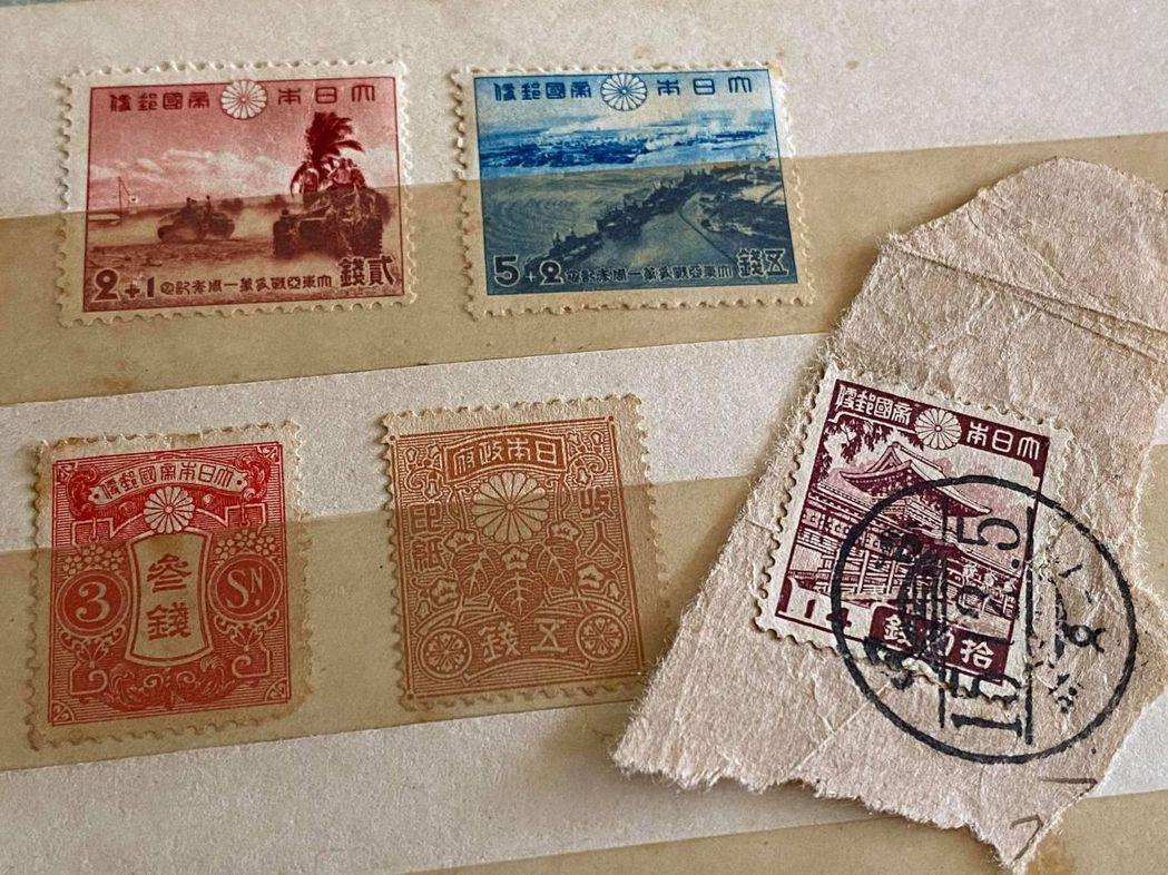 圖為作者自藏的大日本帝國郵政郵票。在二戰期間,作為殖民者,面對滿洲國或是汪精衛的...