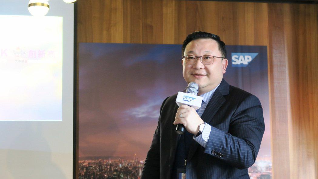 前SAP全球副總裁、台灣總經理謝良承。 彭子豪/攝影