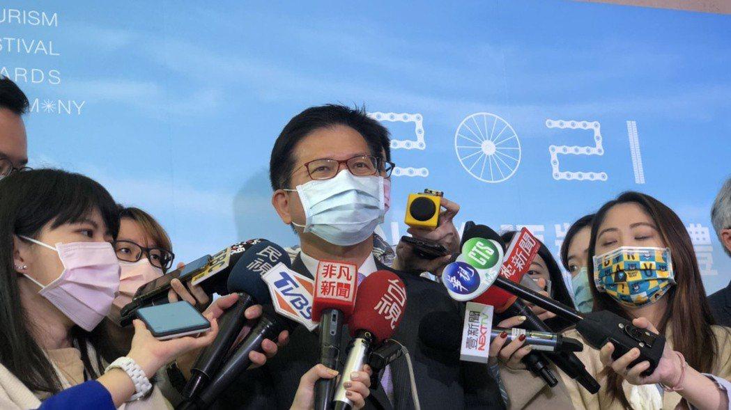 交通部長林佳龍。記者邱瓊玉/攝影