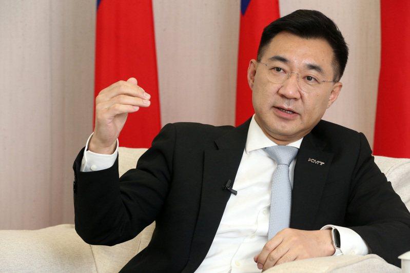 國民黨主席江啟臣昨接受本報專訪表示,他的自我定位就是成為國民黨的「桶箍」。圖/聯合報系資料照片