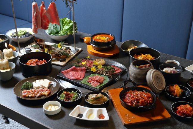虎三同提供韓式烤肉套餐與多款韓食料理。記者陳睿中/攝影