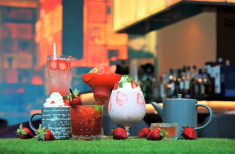 台北士林萬麗酒店的「粉紅戀曲」,有6款新飲品選擇。圖/台北士林萬麗酒店提供