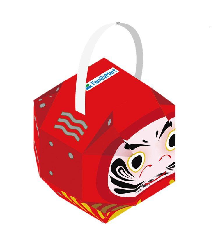 全家便利商店與北港武德宮聯名推出達摩造型的「祈福達摩開運提燈」。圖/全家便利商店...