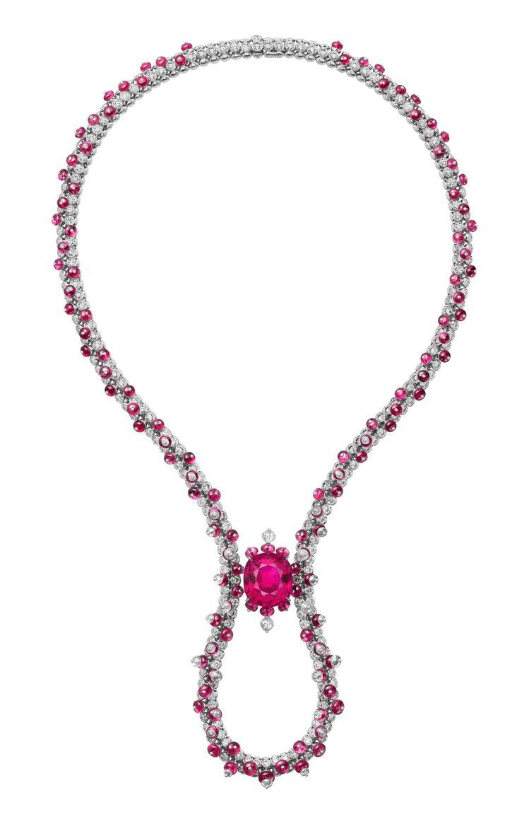 卡地亞 [Sur]naturel頂級珠寶系列Junifer紅碧璽項鍊,價格店洽。...