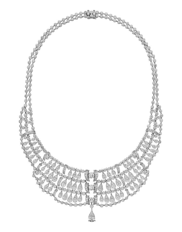 Pluie de Cartier鑽石系列項鍊,價格店洽。圖/卡地亞提供