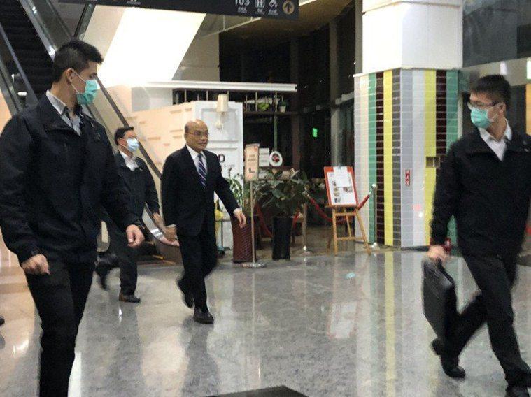 行政院長蘇貞昌本周宴請民進黨立委。本報資料照片,記者賴于榛/攝影