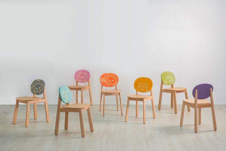 「OPEN! X有情門」聯名家具在熱銷經典系列中加入OPEN!家族肖像,推出餐椅...