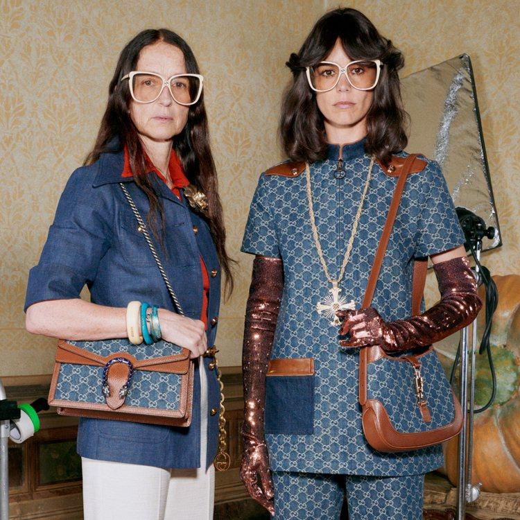 Gucci全新推出「環保丹寧面料」系列。圖/Gucci提供