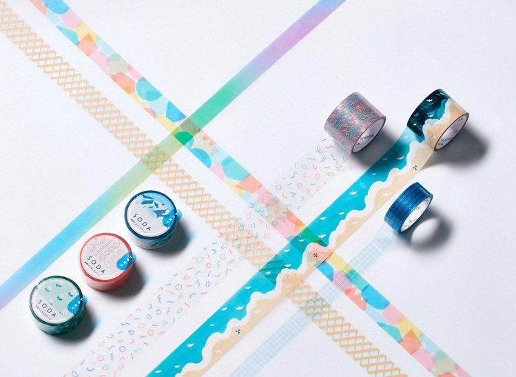 日本文具品牌KING JIM主打「大人的貼紙」,除了推出各色紙膠帶外,還有繽紛花...