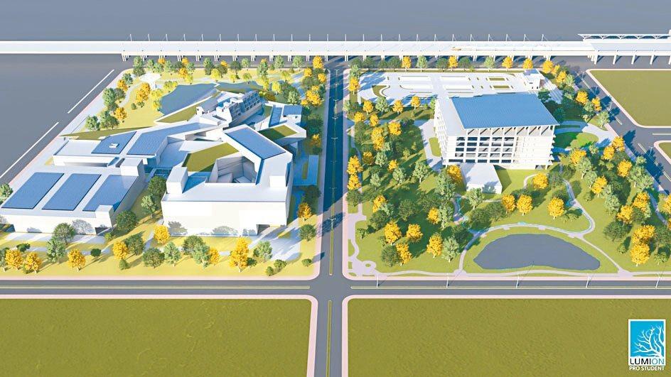 科學城C、D區的三維模擬圖。綠推中心/提供