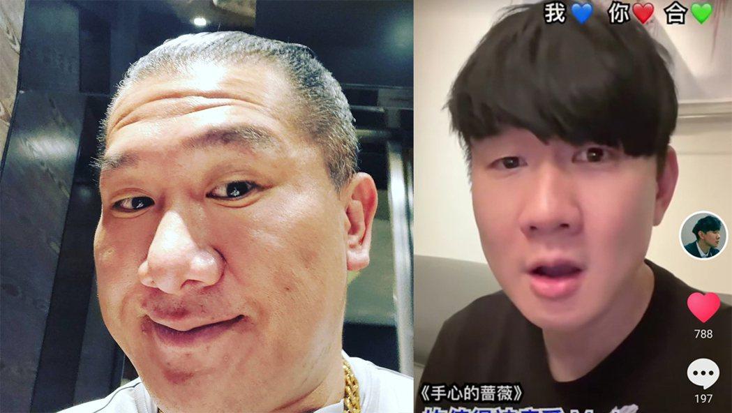 林俊傑日前在抖音唱歌的畫面被指很像網紅館長。圖/擷自IG、微博
