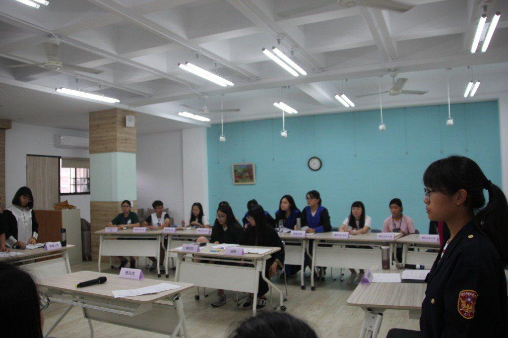 彰化女中2019年舉辦「國民參審模擬法庭」。 圖/聯合報系資料照