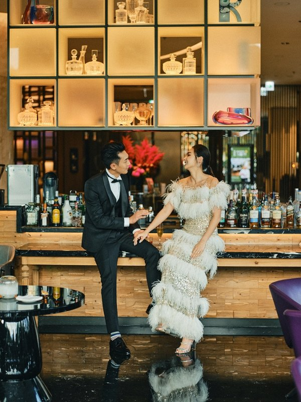 2021年疫情趨緩下,士林萬麗店推出婚宴專案,提供新人「蒂米琪手工訂製精美婚紗」...