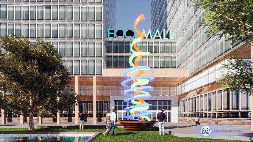 盧鴻智博士創作的裝置藝術,命名為「光盆」。 盧博士虛擬實境設計工坊/提供