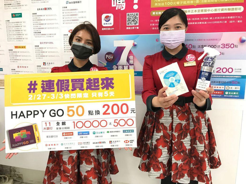 台南大遠百自2月27日至3月3日推出好康限量快閃優惠。  大遠百/提供
